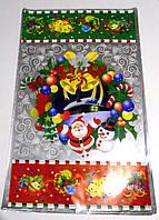 Новогодние пакеты подарочные полиэтилен 50 см х 30 см.