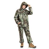 Детский камуфляж костюм OUTDOOR теплый Вулкан Soft-Shell Kryptek рост 128-134 см