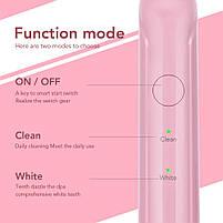 Azdent G8 Sonic Electric Toothbrush Pink Звуковая электрическая зубная щетка, 4 насадки, фото 4