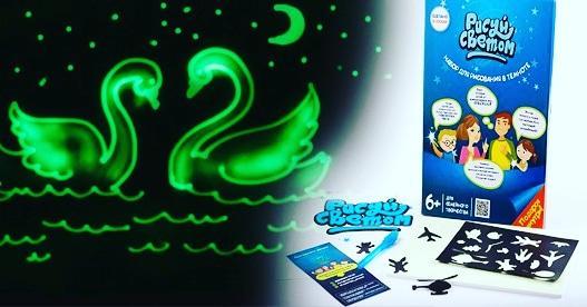 Творческий набор Рисуй светом формат А3, Детский интерактивный набор для рисования в темноте