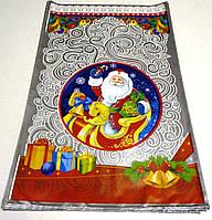 Новогодние пакеты подарочные полиэтилен 40 см х 25 см.