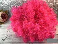Парик карнавальный ярко-розовый средний