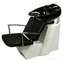 Парикмахерская кресло - мойка с белой керамикой для салона красоты Е-007