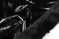 Дубленка Мерино т/т черная с лаковым покрытием