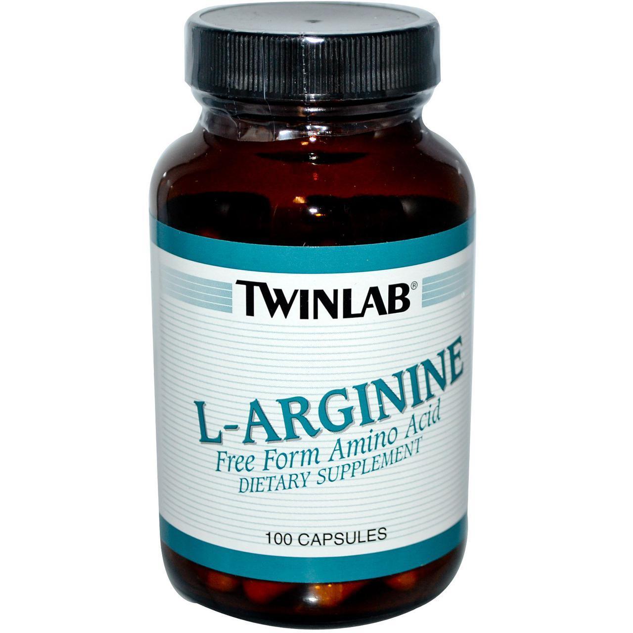 Аргинин Twinlab L-Arginine 500 mg 100 caps