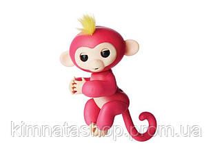 Ручна мавпочка на бат. Happy Monkey інтерактивна (рожевий)