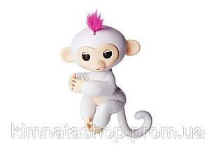 Ручна мавпочка на бат. Happy Monkey інтерактивна (білий)