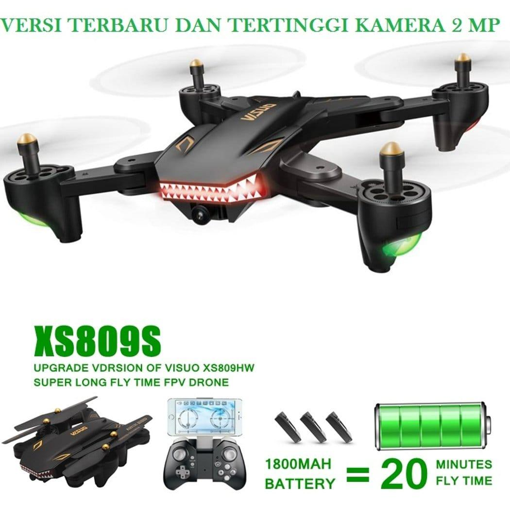 Квадрокоптер VISUO XS809S Shark wi-fi камера 2 MP + Супер батарея!
