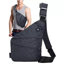 Сумка через плече Cross Body Чоловічий гаманець Крос Боді Месенджер тканинна Чорна Крос +Лід ліхтарик!