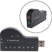 Внешняя звуковая карта USB 3D Sound 8.1 пианино