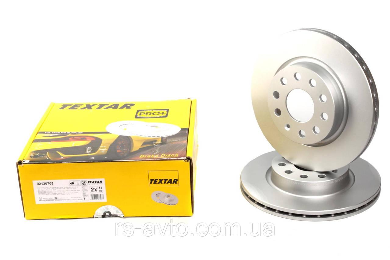 Диск тормозной (передний) Volkswagen Caddy, Фольксваген Кадди 04- (280x22) PRO+ 92120705