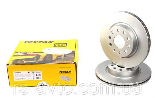 Диск тормозной (передний) Volkswagen Caddy, Фольксваген Кадди 04- (280x22) PRO+ 92120705, фото 2