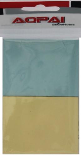 Стикер-закладка пастель 76*51мм 2цв. 100 листов