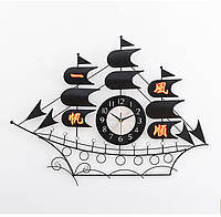 Годинник настінний R-Clock Каравелла 86х68 см Чорний (RC1330)