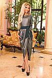 Женское платье с напылением и поясом (3 цвета), фото 4