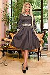 Женское платье с юбкой-солнце миди (3 цвета), фото 3