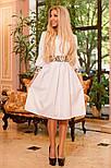 Женское платье с юбкой-солнце миди (3 цвета), фото 6