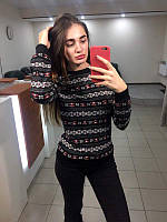 Новогодний свитер женский   Свитшот с оленями   Жіночий светер новорічний d7cf0899e094a