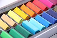 Подарочный набор мягкой пастели MUNGYO для рисования, работы с глиной для лепки, флористики, 24шт., фото 1