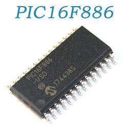 PIC16F886-I/SO, мікроконтролер 8-bit 16MHz, SOP28