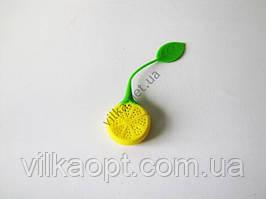 Ситечко силиконовое для заварки  Лимон  18 х 5 см.