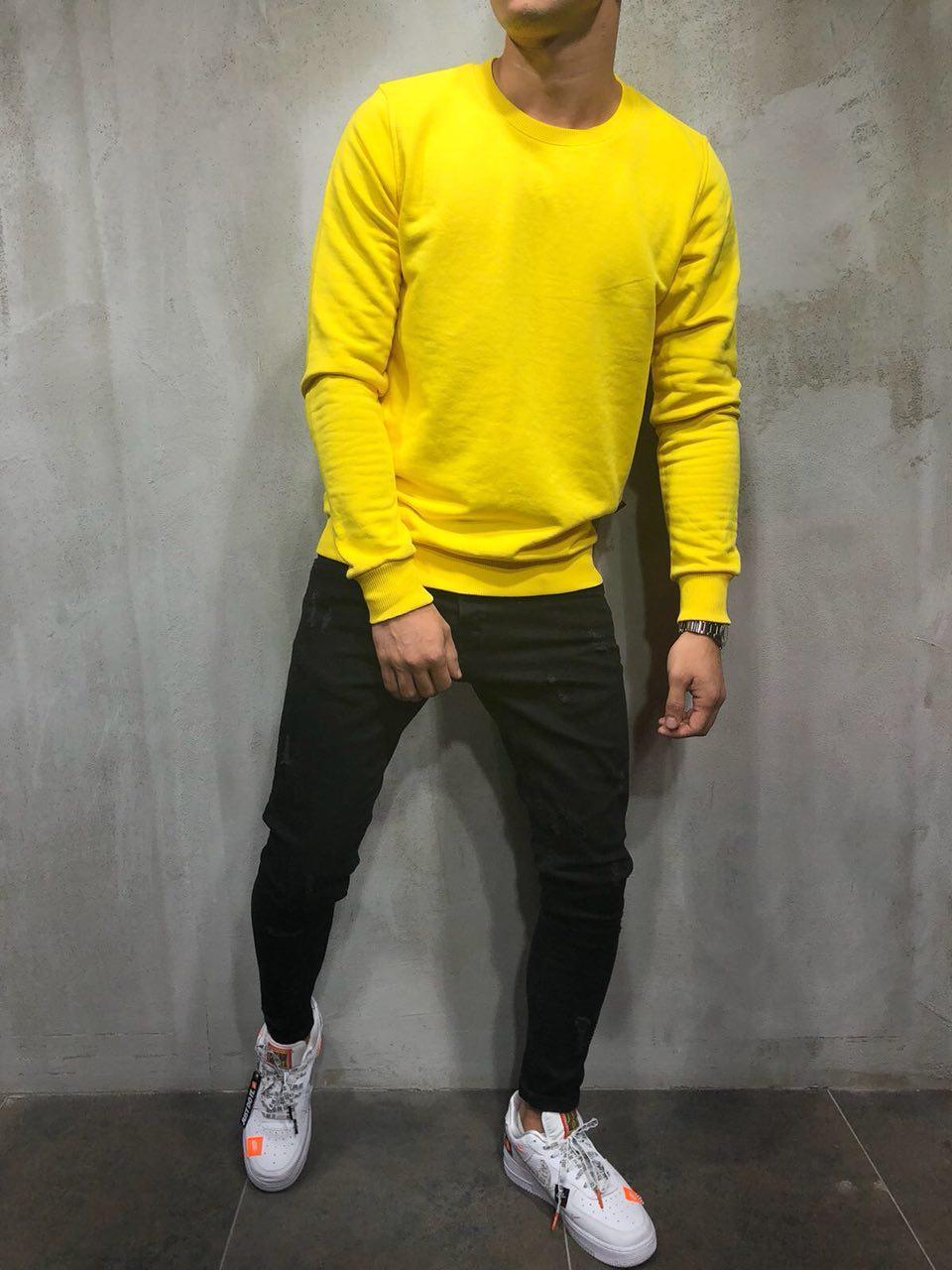 Чоловічий світшот (жовтий)