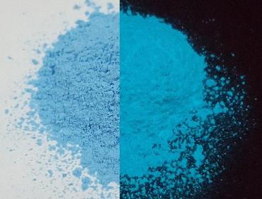 Люминофор бирюзовый синий (бирюзовое свечение в темноте) упаковка пробник,10 г