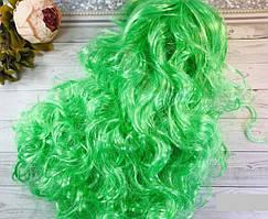 Карнавальний парик хвиля 50 см (червоний, синій, жовтий, салатовий)