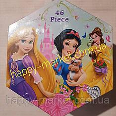 """Набір для дитячої творчості """"Принцеси"""" (46 предметів) шестигранний"""