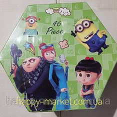 Набір для дитячої творчості Міньйон (46 предметів) шестигранний