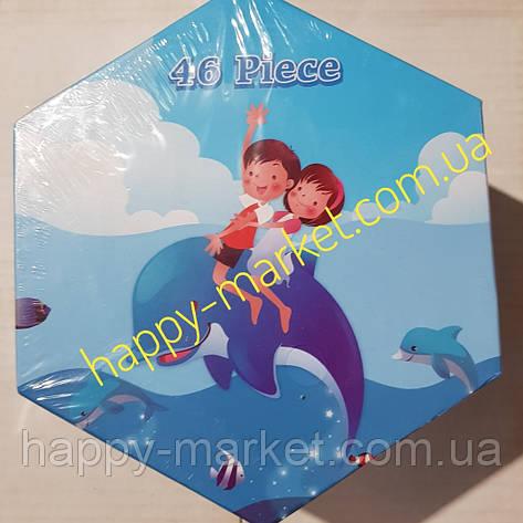 Набір для дитячої творчості Діти,дельфін (46 предметів) шестигранний, фото 2