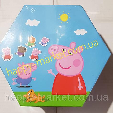 Набор для детского творчества Свинка Пеппа (46 предметов) шестигранный, фото 2
