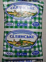 Молоко Селянське 1,5% 0.9л