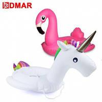 Детский надувной круг Фламинго  с ручками
