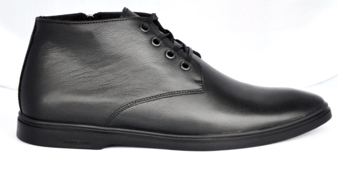 1ab524bb9 Демисезонные мужские ботинки из натуральной кожи, черные. Размеры 40, 41,  42,