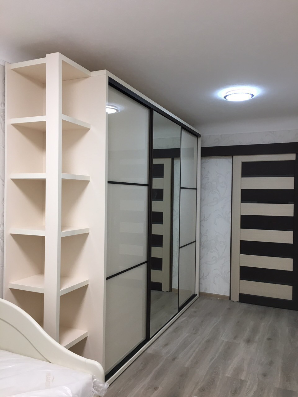 New 2019 шкаф купе в прихожую или спальню Slim с Lacobel стеклом