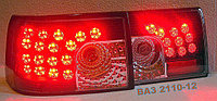 """Тюнинг на ВАЗ 2110 - задние диодные фонари """"Картечь"""" (черные), фото 1"""