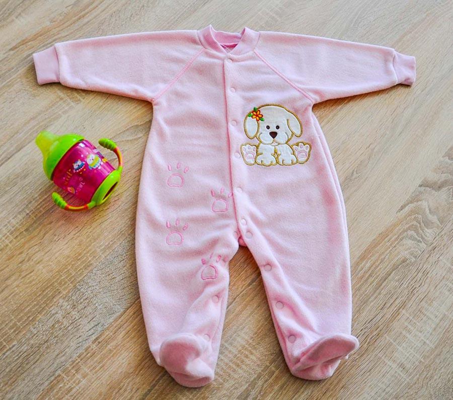 Комбинезон розового цвета с аппликацией для девочки, Valeri tex