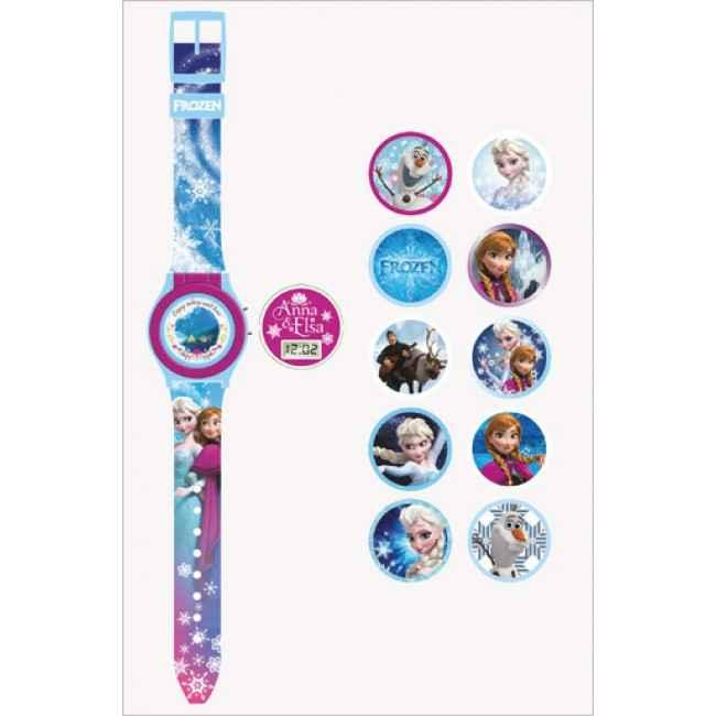 """Часы \""""Ледяное сердце\"""" с набором сменных панелей, Mattel"""