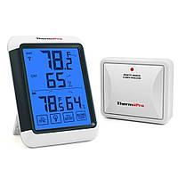 Термогигрометр ThermoPro TP65S / TP65A (-20...+70°C; 10-99%; ±1°C; ±2%) с удалённым датчиком T° (до 60 метров), фото 1