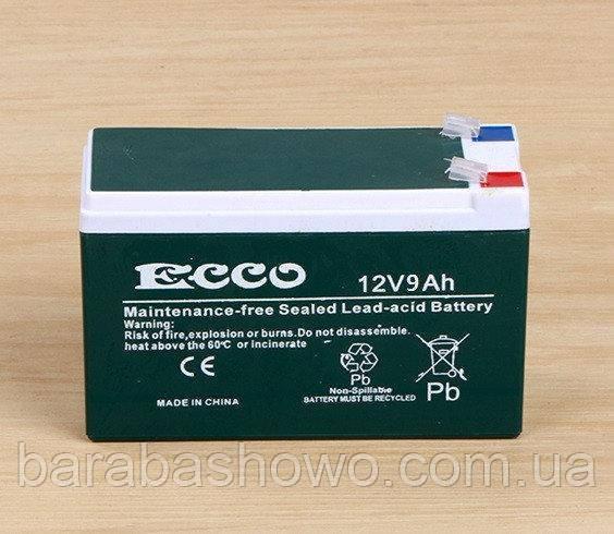 Акумулятор для безперебійники ECCO 12v9Ah