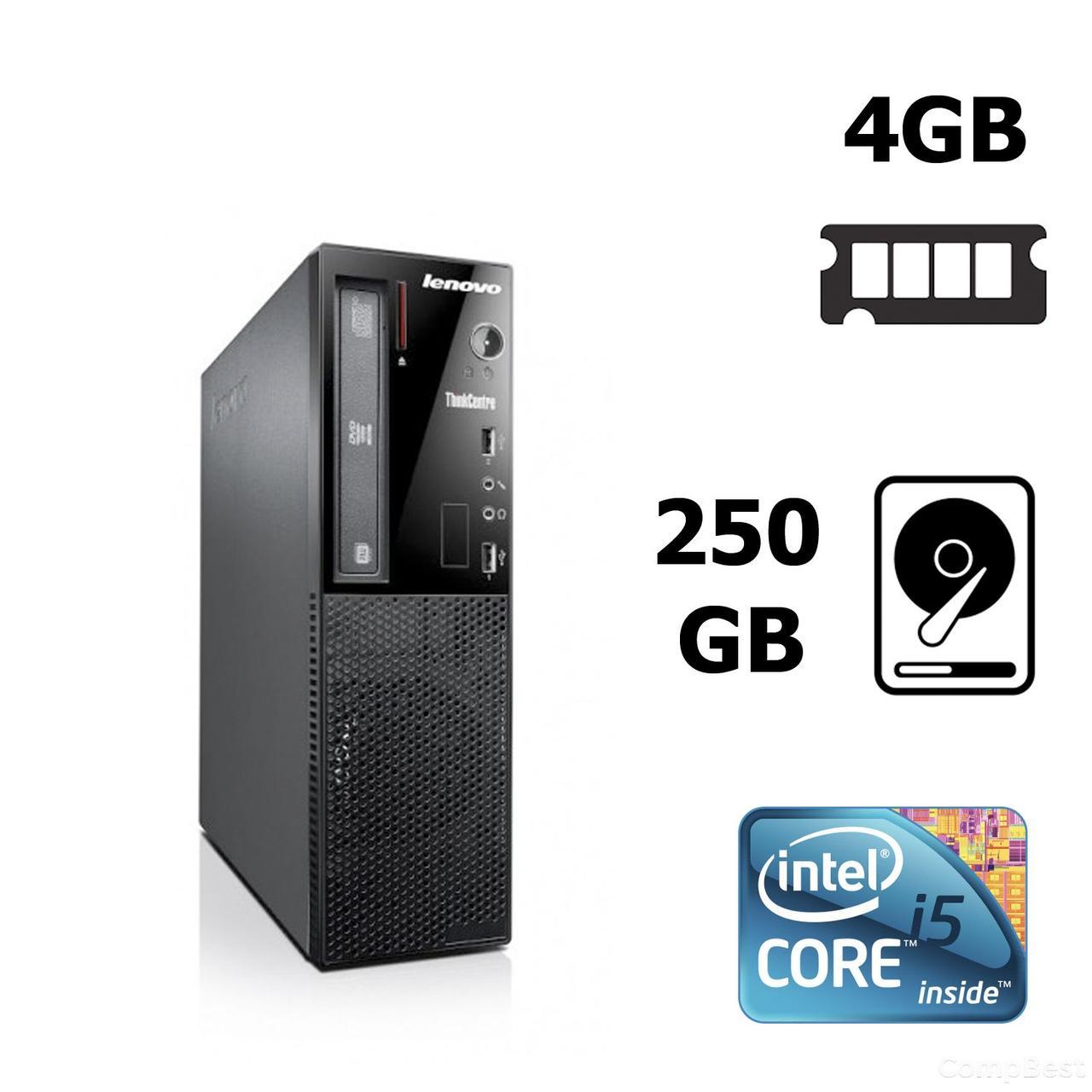 Lenovo ThinkCentre  Е73 SFF / Intel® Core™ i5-4430S (4 ядра по 2.7 - 3.2 GHz) / 4 GB DDR3 / 500 GB HDD