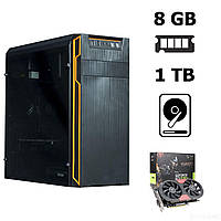 Frontier HAN SOLO orange MT / AMD Athlon™ II X4 840 (4 ядра по 3.1 - 3.8 GHz) / 8 GB DDR3 / 1 TB HDD / nVidia GeForce GTX 1050 Ti (4 GB 128-bit GDDR5)