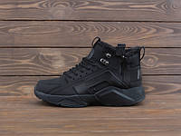 ВЗУТТЯ NIKE AIR HUARACHE FOUR S 4 HIGH CITY BE X ACRONYM FULL BLACK ХУТРО, фото 1