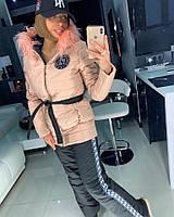 Женский зимний теплый костюм с опушкой tez180830, фото 1