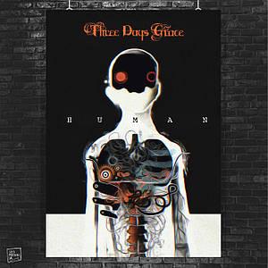 Постер Three Days Grace. Размер 60x42см (A2). Глянцевая бумага