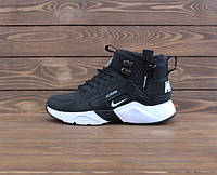 Кросівки Nike Air Huarache Four S 4 High City BE Black/White ХУТРО. 40 - 45.
