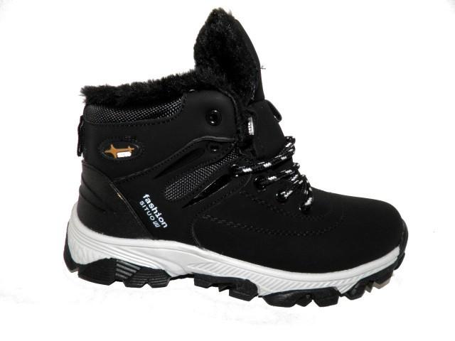 Кроссовки зимние подростковые Situo K-08-1 черный * 17248