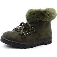 Женские зимние ботинки замша, мех. Португалия, фото 1