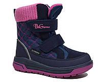 Термоботинки B&G-Termo арт.R191-1212, т.синий-розовый, 29, 18.5